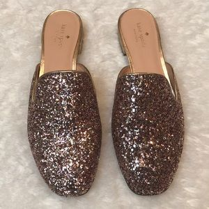 Kate Spade Gowan pink gold mules slip on 9.5